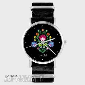 hand-made zegarki zegarek, bransoletka - czarny folkowy czarny, nato