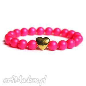 swarovski neon pearls pink, perły, swarovski, neon, neonowa, fluo, serce
