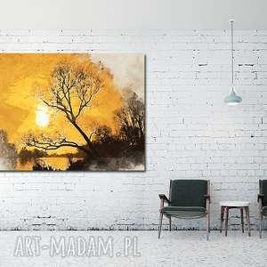Obraz DRZEWO 42 - 120x70cm na płótnie do salonu, obraz, drzewo, las
