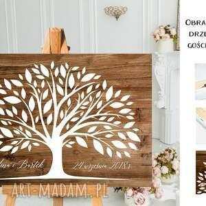 kreatywne wesele rustykalna alternatywna księga gości weselnych - drzewo wpisów