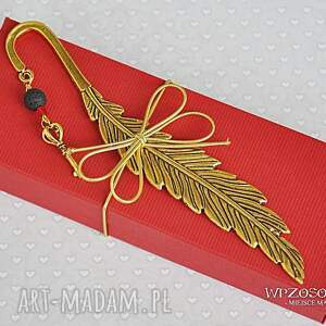 złoty klucz - zakładka, pióro, klucz, prezent
