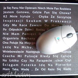 hand made podkładki mysz a-kysz