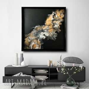 - piasek pustyni abstrakcja na płótnie, obraz ręcznie malowany do salonu