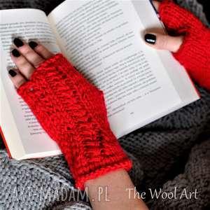 rękawiczki mitenki, rękawiczki, nadrutach, nadłonie, wełniane