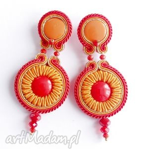 Red and hot - kolczyki sutasz, soutache