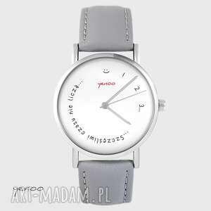 handmade zegarki zegarek - szczęśliwi czasu nie liczą skórzany