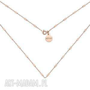hand-made naszyjniki naszyjnik łańcuszkowy z różowego złota