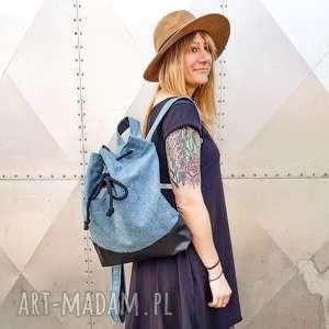 plecak wegański niebieski worek pojemny na prezent, plecak, worek