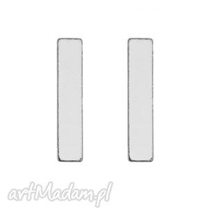 srebrne kolczyki prostokąty, srebro, modne, kobiece, minimalistyczne