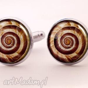 ślimak - spinki do mankietów egginegg - męskie, spirala