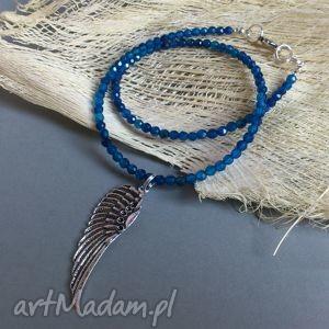 hand-made naszyjniki skrzydlaty agat