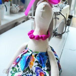 hand-made maskotki pani królik