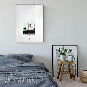 grafika 50X70 cm wykonana ręcznie, plakat, abstrakcja, elegancki minimalizm, obraz do