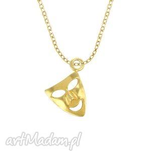 celebrate - mask - necklace g - łańcuszek, złoty, celebrytka