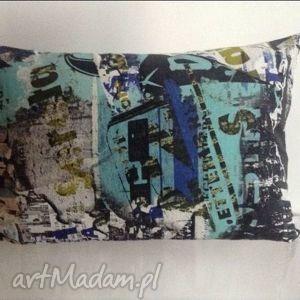 kolorowa poduszka, vintage
