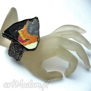 ceramika hand made w bransolecie prezent oryginalny prawdziwy made