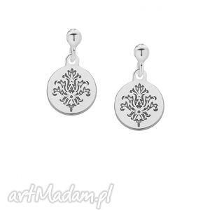 srebrne kolczyki z rozetkami sotho - minimalistyczne, rozety, modne, boho