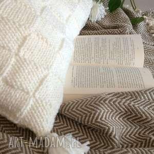 Poduszka Quatro z frędzlami - 50x50 cm, boho, poduszka, zfrędzlami, dosalonu