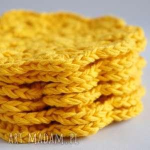 podkładki serwetki bawełniane 093 vairatka handmade - żółte