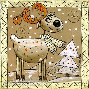 handmade pomysł na prezent świąteczny bohater jelonek