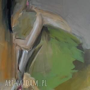 dom woman 120x70, obraz do salonu, duże obrazy, pastelowy obraz, kobieta