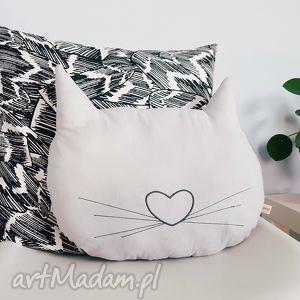 podusia dwustronna kocia główka, kot, cat, poduszka, pastelowa, meow