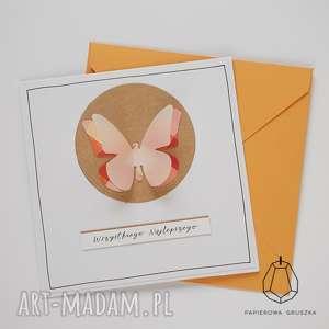 kartka z motylkiem, kartka, urodzinowa, urodziny, motylek, dziecko