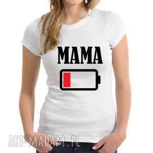 Koszulka dla rodziny damska mama - bateria koszulki tailormade