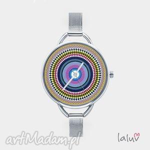 hand made zegarki zegarek z grafiką love mandala