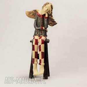 ceramika anioł marzyciel, anioł, wykonany ręcznie