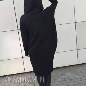 asymetryczna sukienka bluza, sukienka, asymetryczna, dzianina