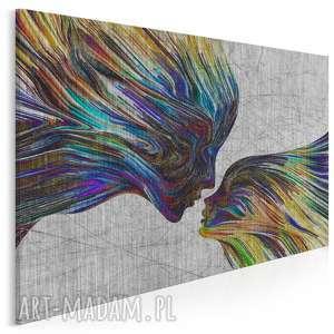 obraz na płótnie - twarze pocałunek 120x80 cm 13502, twarze