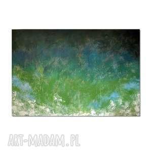 Tierra Verde, abstrakcja, nowoczesny obraz ręcznie malowany, obraz, ręcznie, malowany