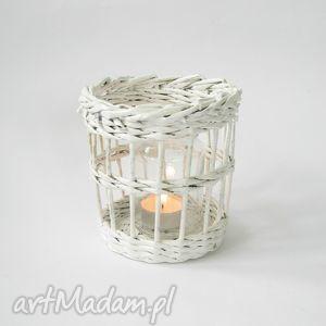biały lampion, recykling