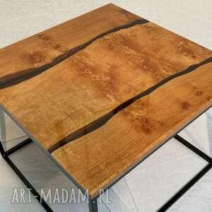 hand-made stoły stolik kawowy zalany żywicą