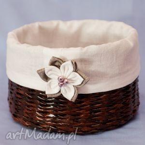 koszyk z kwiatuszkiem bukiet pasji - pudełko prezent