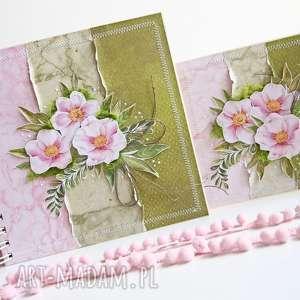 kwiatowy komplet, album, ślubny, ślub, prezent, scrapbooking, wesele, prezent