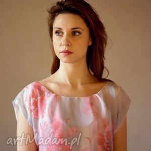 hand-made sukienki bombka szaro-różowa