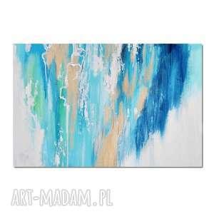 fields of gold 2 , abstrakcja, nowoczesny obraz ręcznie malowany - obraz, ręcznie