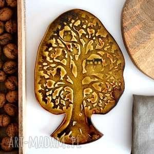 Drzewo ceramika, drzewo, las, ceramiczne, sowa, drewno