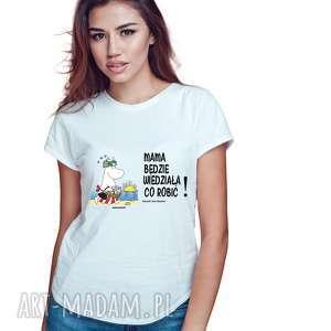 ręczne wykonanie koszulki licencjonowana koszulka damska muminki dla mamy mama będzie