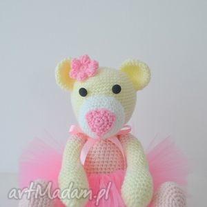 Prezent Prima Balerina - Misiaczek w różowej sukieneczce tiulowej , miś, przytulanka