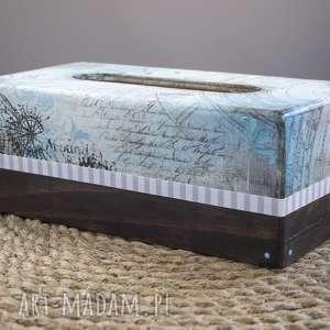 chustecznik , pudełko, decoupage, podróż, orginalny, chusteczki