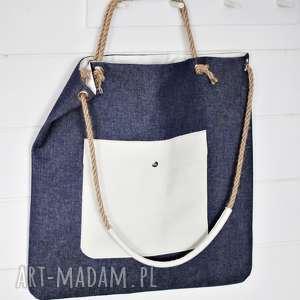 ręcznie robione na zakupy torba xl