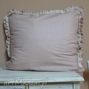 handmade poduszki poszewka shabby chic kropki