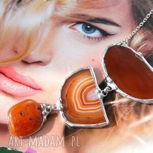 ręcznie robione naszyjniki naszyjnik chwost wisiorek z łańcuszkiem: brązowy