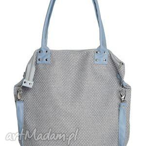 torba worek xl #plecionka blue, duża, torba, oversize, xxl, plecionka, szara