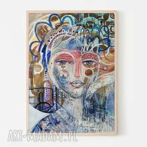plakaty plakat 50x70 cm - arabela, plakat, wydruk, twarz, kobieta, portret