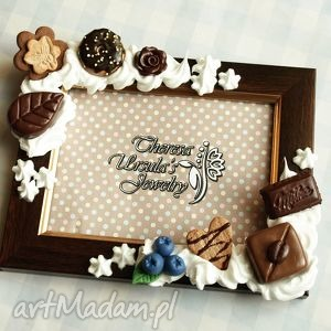 Słodka czekoladowa ramka ramki theresa ursulas jewelry ramka