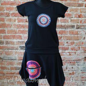spodnie komplet na wiosnę, spodnie, alladyny, krtokie, wygodny, t0shirt, bawelny